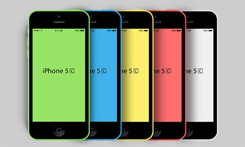 新的iPhone5C PSD样机