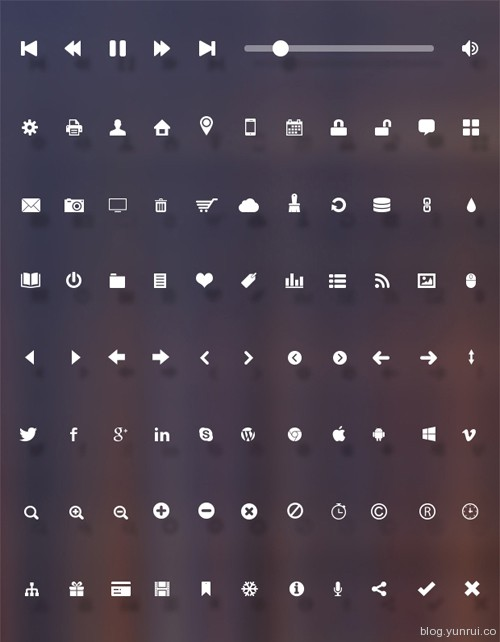86 Free Flat Vector Icons