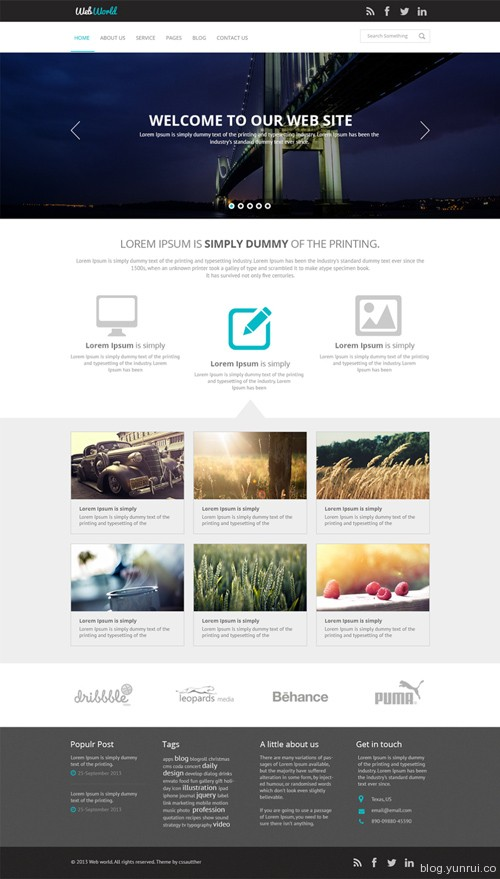 Free Business Web PSD Template