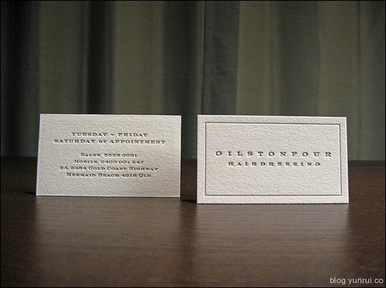 HairdressingLetterpressBusinessCard