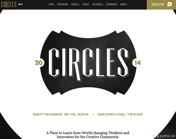 13 Beautiful Examples of White Type in Web Design