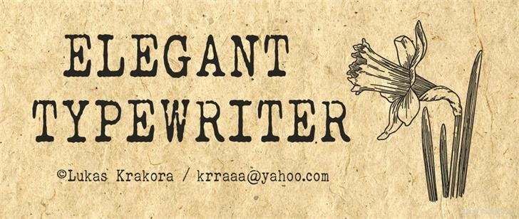 Elegant Typewriter by Lukas Krakora in 13 Fresh and Free Fonts for March 2014