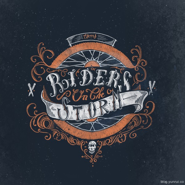 Riders in the night by Thomas Picard in Collection of Fresh and Creative Typography Projects