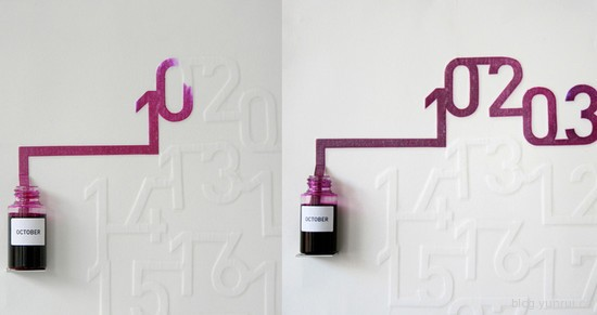 Creative Calendar Designs: Ink Calendar