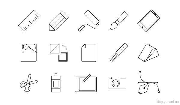 Graphic Design Icons V1.1 by themeraid in 40 New Icon Sets for March 2014