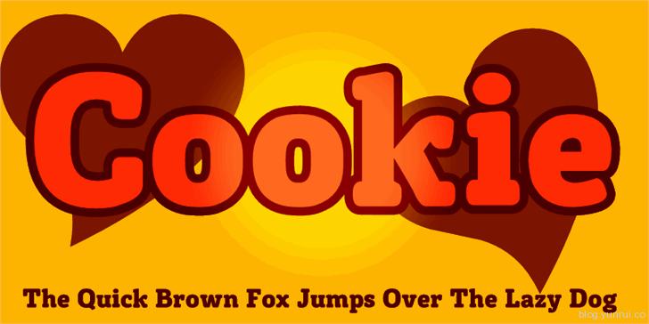 Cookie by Sanz d'Cloudz in 13 Fresh and Free Fonts for March 2014