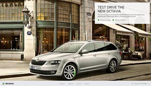 Skoda Octavia in 25 Creative Automotive Websites