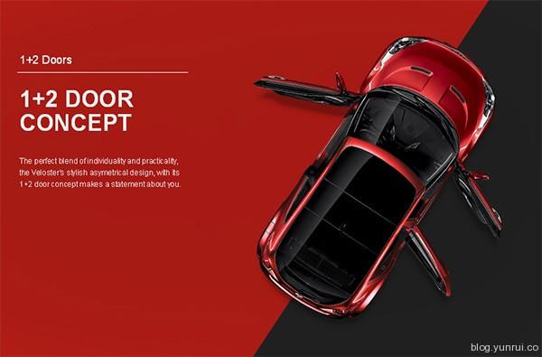 Hyundai Veloster in 25 Creative Automotive Websites