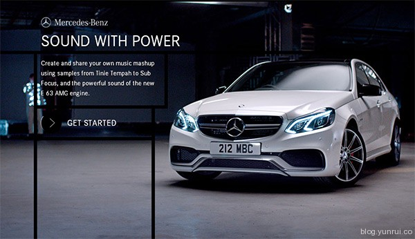 E 63 AMG in 25 Creative Automotive Websites
