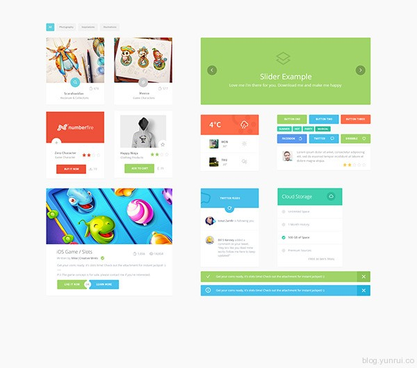 UI Kit by Dominic L. in 30 New and Free UI Kits for Designers