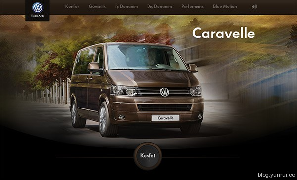 Caravelle in 25 Creative Automotive Websites