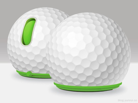 Jelfin Standard USB Mouse Green Accent, Golf Ball Skin, Can Packaging