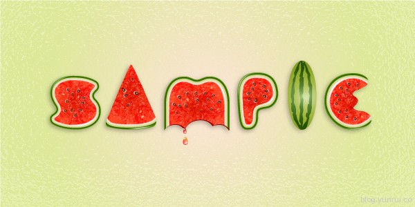 Use Brushes to Create a Watermelon Text Effect in Illustrator in Web Design Inspirational Cocktail #5