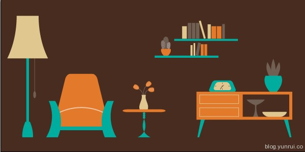 How to Create an Easy Living Room Scene in Illustrator in Web Design Inspirational Cocktail #5