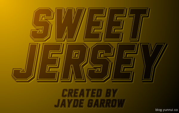 Sweet Jersey by Jayde Garrow in 13 Fresh and Free Fonts for March 2014