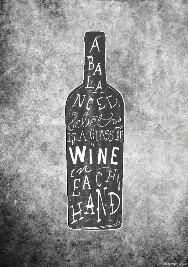 Wine bottle by Magdalena Mikos in Collection of Fresh and Creative Typography Projects
