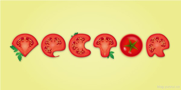 Create a Detailed Tomato Text Effect in Adobe Illustrator in Web Design Inspirational Cocktail #5