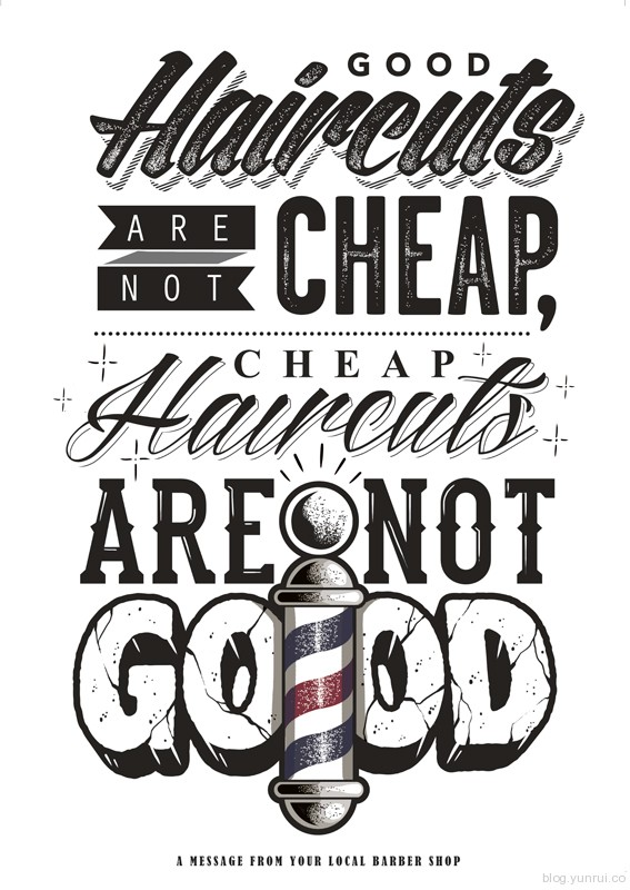 Good Cuts by Dale Bigeni in Collection of Fresh and Creative Typography Projects