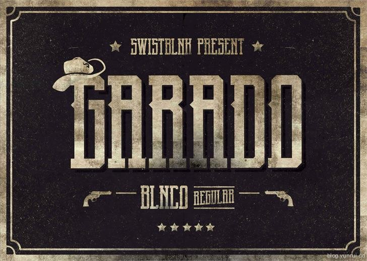Garado Blnco by swistblnk in 13 Fresh and Free Fonts for March 2014