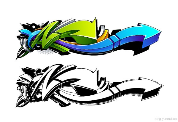 Create a Wild, Graffiti-Style Arrow Design in Adobe Illustrator in Web Design Inspirational Cocktail #5