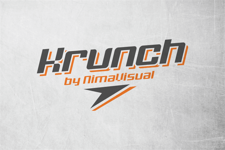 Krunch by NimaVisual in 13 Fresh and Free Fonts for March 2014