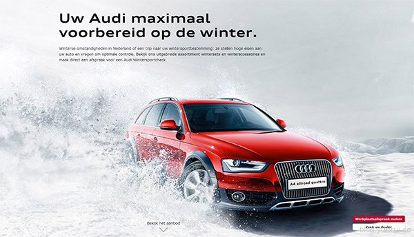 Audi in 25 Creative Automotive Websites