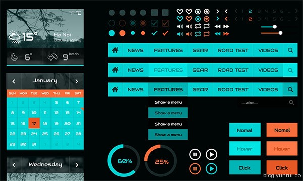 Robotic Ui Kit by Sonny in 30 New and Free UI Kits for Designers