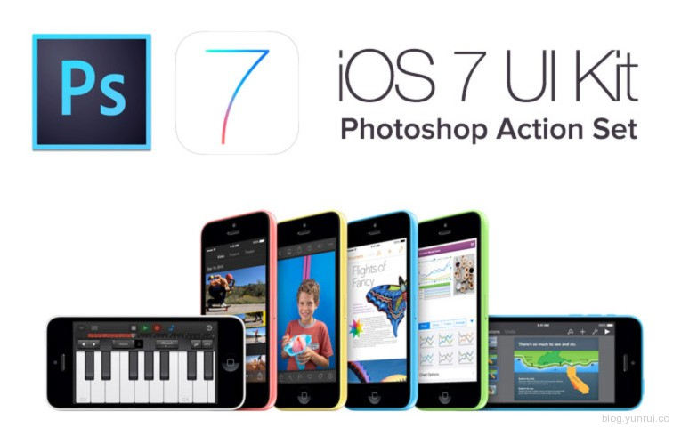 IOS7 PHOTOSHOP动作合集