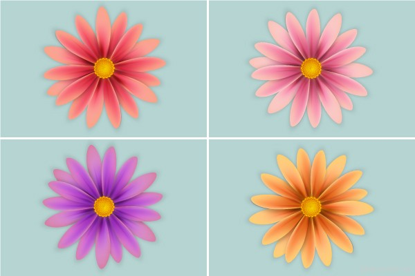 Create Simple Flowers With Gradient Mesh in Adobe Illustrator in Web Design Inspirational Cocktail #5