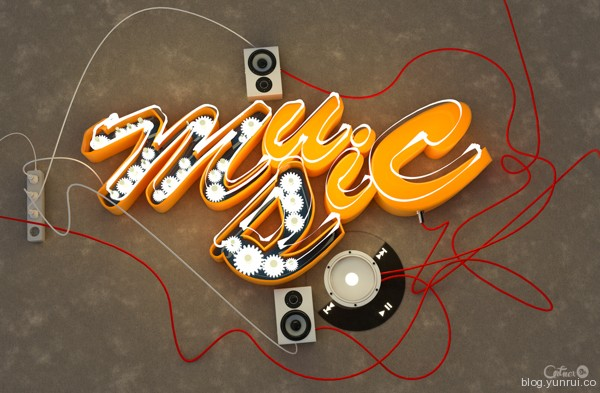 Music by Arman Artnex in Collection of Fresh and Creative Typography Projects