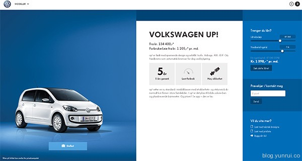 Volkswagen in 25 Creative Automotive Websites