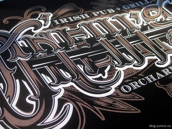 Typographic tees for O'Neill's Pub by Sara Corsi in Collection of Fresh and Creative Typography Projects
