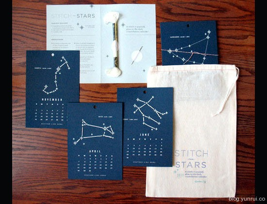 Stitched Constellation Calender