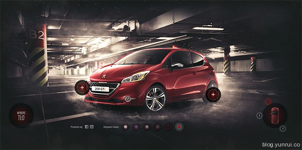 Peugeot 208GTi in 25 Creative Automotive Websites