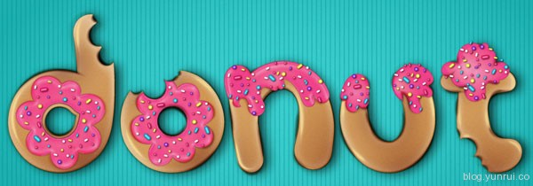How to Create a Donut Font Style That Will Have Your Clients Drooling in Web Design Inspirational Cocktail #5