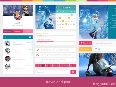 Free UI Kit by Candence in 30 New and Free UI Kits for Designers