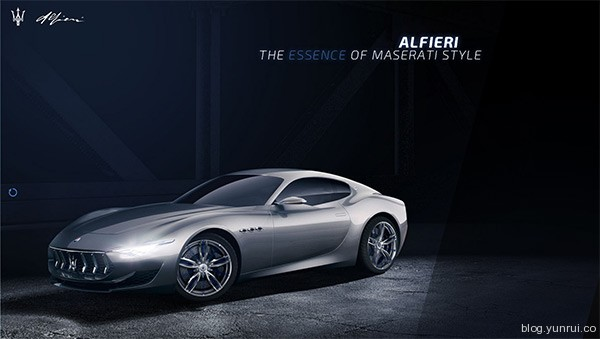 Maserati Alfieri Concept Car in 25 Creative Automotive Websites