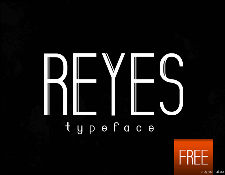 Reyes by Phenom in 13 Fresh and Free Fonts for March 2014