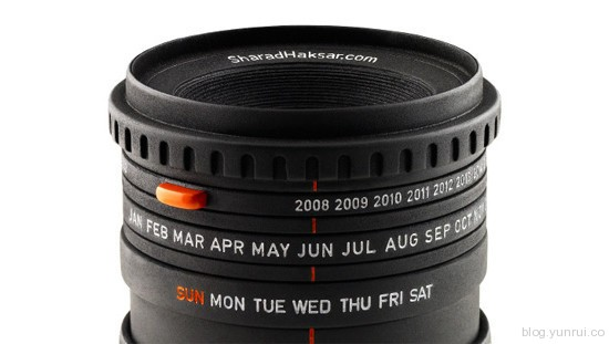 The World's First Camera Lens Calendar