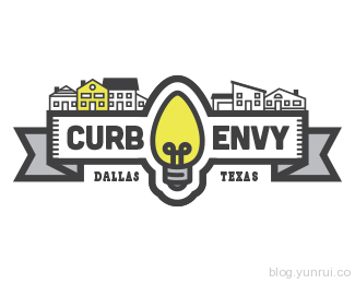 Curb Envy Concept 1 by jamiller23 in 50 Logos for Inspiration
