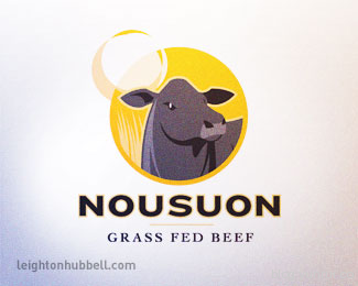 Nousuon Grass Fed Beef v2 by leighton_hubbell in 50 Logos for Inspiration