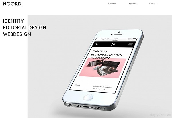 Noord in 35 Inspiring Examples of White Space in Web Design