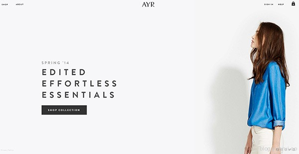 AYR in 35 Inspiring Examples of White Space in Web Design