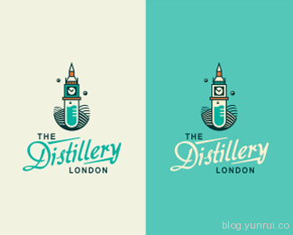 The Distillery London by szende in 50 Logos for Inspiration