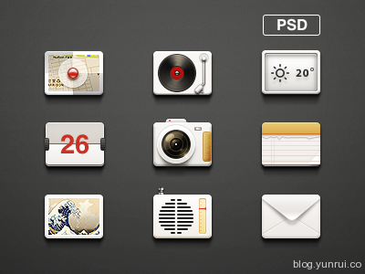 Icons by AYAD in 47 Fresh and Flat Icon Sets for April 2014