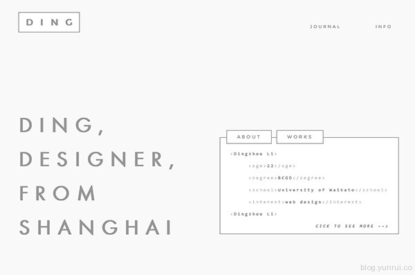 Dingzhou in 35 Inspiring Examples of White Space in Web Design