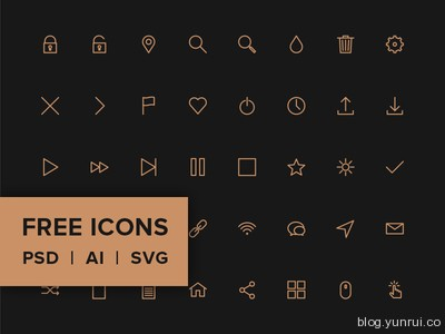 Icon Pack by Petras Nargela in 47 Fresh and Flat Icon Sets for April 2014