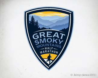 Smoky Mountain Half by jerron in 50 Logos for Inspiration