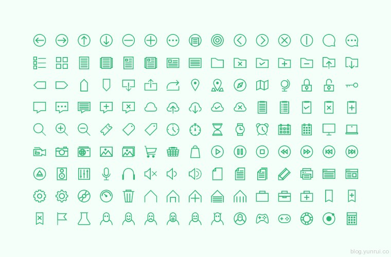 135 Hard One Icon Set