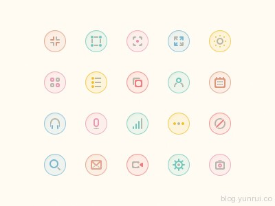 Icons by Abhimanyu Rana in 47 Fresh and Flat Icon Sets for April 2014